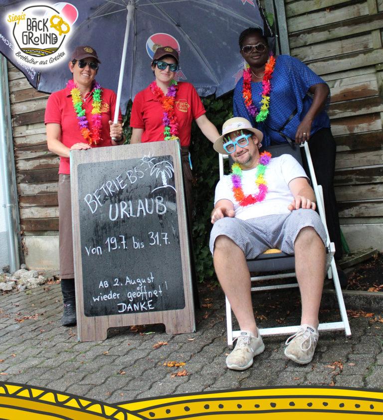 Betriebsurlaub in Siegis Bäckground von 19. bis 31. Juli 2021